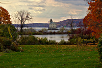 Rondout Light in Fall